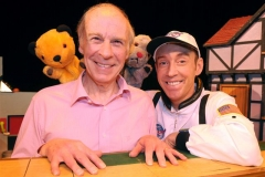 Newport Richard Cadell and Sooty with RNIB collecting box, with John Hannam